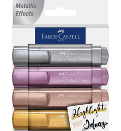 154623 Tekstmarkers Metallic  - Faber Castell