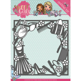 YCD10119 Snij- en embosmal - Sweet Girls - Yvonne Creations