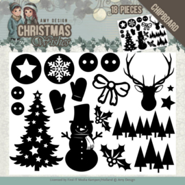 ADCB1003 Chipboard - Christmas Wishes - Amy Design