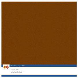 58 Brown - Linnen Kaarten 30,5 x 30,5cm - 10 stuks - 200 grams - Card Deco - PAKKETPOST!!