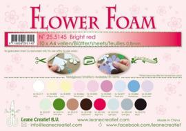 25.5145 Flower foam sheets A4 0.8mm. Bright red - per stuk