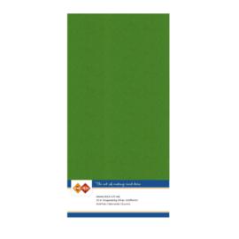 60 Fern Groen - Linnen Kaarten 4 kant 13.5x27cm - 10 stuks - 200 grams - Card Deco