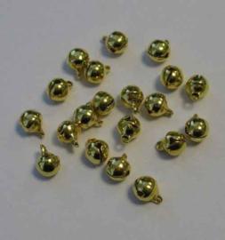 Belletjes Goud 6mm - 20 stuks - Hobby Crafting