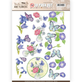 SB10217 Stansvel A4 - Classic Butterflies and Flowers - Jenine's Art