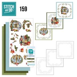 Stitch and Do 159 - set voor 3 borduurkaarten - Kerst