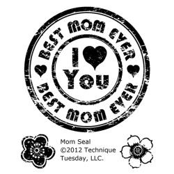 I love you Best Mom for ever - Clearstempel - Technique Tuesday