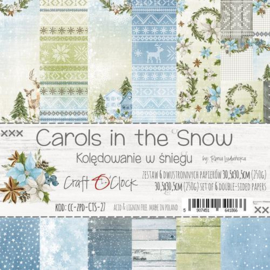 Papierbloc 30.5 x 30.5 - Carols in the Snow - Craft a Clock - PAKKETPOST!