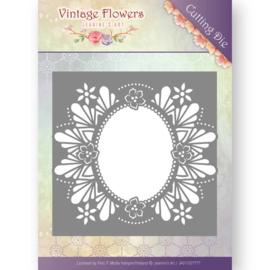 JAD10032 Snij- en embosmal - Vintage Flowers - Jenine's Art