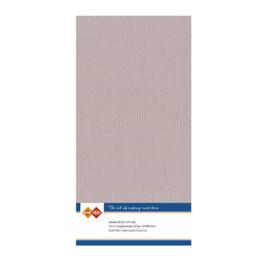 50 Schelproze - Linnen Kaarten 4 kant 13.5x27cm - 10 stuks - 200 grams - Card Deco
