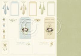 PD8412 Scrappapier dubbelzijdig - The Songbirds Secrets - Pion Design