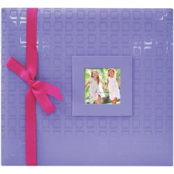 Scrapalbum Paars met roze strik - met passepartout - 12 x 12 inch