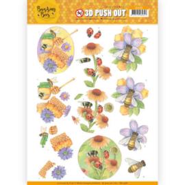 SB10368  Uitdrukvel A4 - Buzzing Bees - Jeanine's Art