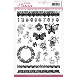 PMCS10046 Clearstempel - Pretty Flowers - Marieke Design
