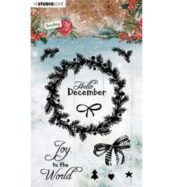 SL-SJ-STAMP52 - SL Clear stamp Christmas wreath Sending Joy nr.55