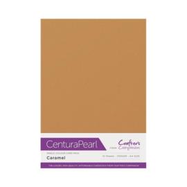 Caramel - Glanskarton A4 310 grams - 10 vel - Centura Pearl