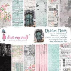 Paperpad 15x15cm - Dream Door - 24 vel dubbelzijdig -Dress my Craft