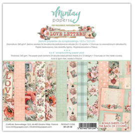 Paperpad 15x15cm - Love Letters - Mintay
