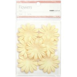 "SB826 Paper Flowers 1.97"" (5cm) 25 stuks - Cream - Kaisercraft"