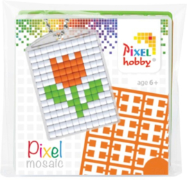 Sleutelhanger setje compleet - Tulp  -  Pixel Hobby