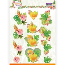 CD11689 3D vel A4 - Exotic Flowers - Jeanine's Art