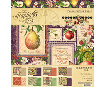 4501999 Paperpad 8x8inch - Fruit & Flora- Graphic45
