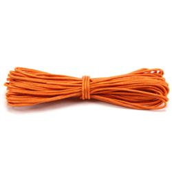 Waxkoord katoen 1mm - 5 meter - Oranje