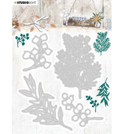 STENCILWC323  Snij- en embosmal  - Winter Charm - Studio Light