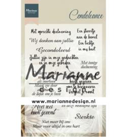 CS1041 Clearstempel Condoleance - Marianne Design