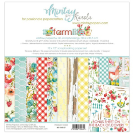 Paperpad 30.5 x 30.5cm - Farmlife - Mintay - PAKKETPOST!