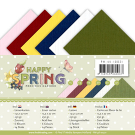 PM-4K-10021 Karton 13.5 x 27cm - Happy Spring - Marieke Design