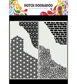 470.715.822 - Mask Art Slimline Cracked Patterns - Dutch Doobadoo