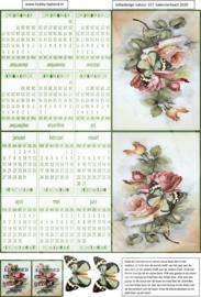 JDN157 Vintage vel A4 Natuur Kalender - Jellie Design