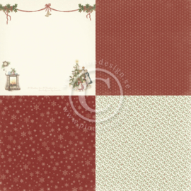 PD21004 Scrappapier 4 vlakken - Let's be Jolly - Pion Design