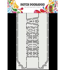 470.713.863 - Card Art Slimline Hoera - Dutch Doobadoo