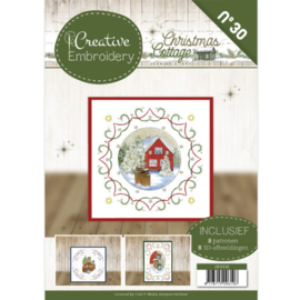 CB10030 Creative Embrodery - Christmas Cottage- Jeanine's Art