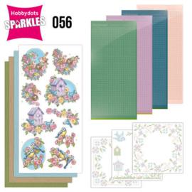 Sparkles set 056 - compleet voor 3 kaarten