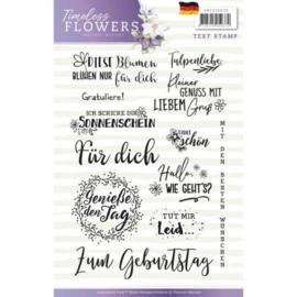 PMCS10030 Clearstempel - Tekst Duits - Timeless Flowers - Marieke Design