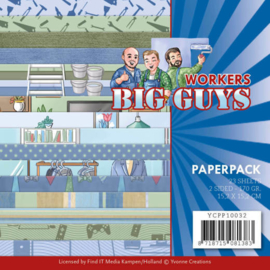 YCPP10032 Paperpad - Big Guys Workers - Yvonne Creations