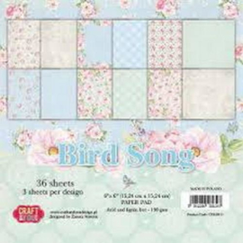 Paperpad 15,2 x 15,2 cm - 36 sheets - Bird Song - Craft & You