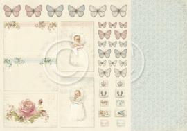 PD4011 Scrappapier Dubbelzijdig - Sweet Baby - Pion