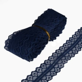 Kant nr. 3 breed 28mm  - Navy - per meter