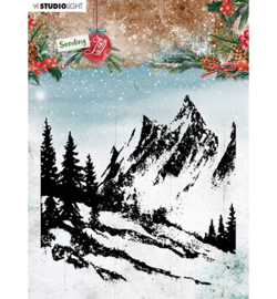 SL-SJ-STAMP55 - SL Clear stamp Background landscape Sending Joy nr.58