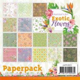 JAPP10021 Paperpad - Exotic Flowers - Jeanine's Art