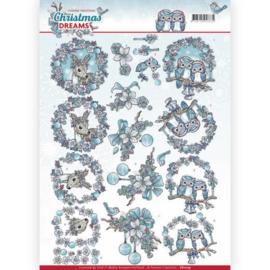 CD11135 Knipvel A4 - Christmas Dreams - Yvonne Creations