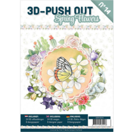 3DPO10014 - 3D uitdruk vellen boek Spring Flowers