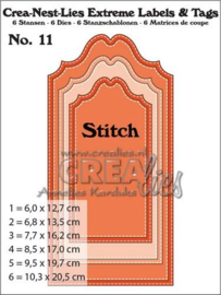 Extreme Labels and Tags no. 11 Snijmal with Stitch - Crealies
