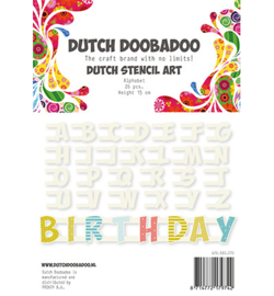 470990070 Stencil Art Alfabeth - Dutch Doobadoo