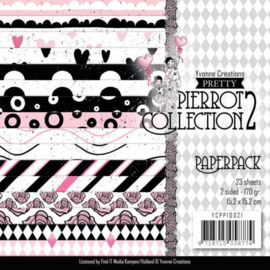 YCPP10021 Paperpad - Pretty Pierrot 2 - Yvonne Creations