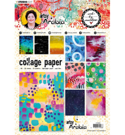 CPBM08 Collage Papers A4 20 stuks - Art by Marlene
