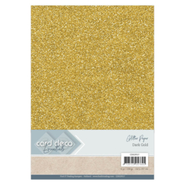 CDEGP017 Glitterkarton A4 250gr - Dark Gold  - 6 stuks - Card Deco